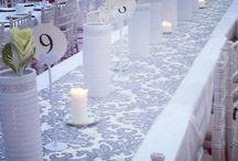 Weddings I designed #redandwhite / Intimate engagement party