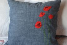 poppy cushion ideas