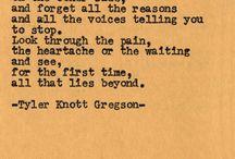 -Tyler Knott Gregson- / by Amy Welborn