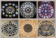 stained glass / stained glass/ rose window