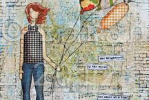 Artful Collage / I love and am drawn to collage. Done some in my adult life. Wish to do more. Time. Time. T...