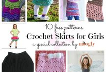 crochet skirts and dresses for girls