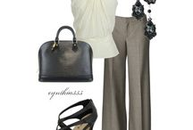Clothing - Dressing in grey/taupe pants & shorts / by Lois Williams Bunch