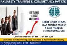 Diploma in Fire & Safety Course in Coimbatore – Aksafetytrainings.com / http://www.aksafetytrainings.com/diploma-fire-safety-training-course-coimbatore.htmlAK Safety Training based in Coimbatore conducts fire safety and risk management courses including certificate courses in fire & safety, diploma courses in fire & safety pg diploma and graduation courses in fire & safety.