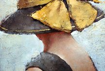 kalapos nő fej