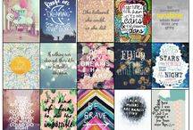 Printables / Inspirations and products to help to create and use printables