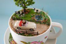 Teacup diorama