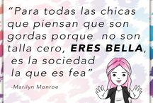Curvy Quotes LA MODAYA / Frases en español para amarte y aceptarte.
