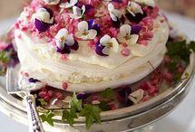 cheescake ornat cu flori