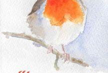 Watercolor christmas