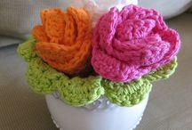 dishcloth flowers