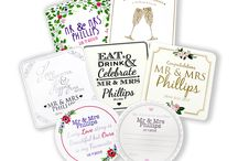We Proudly Present... / The hard work has paid off. Take a look at our brand new wedding designs, available as invitations, save-the-date cards, order-of-service cards, menus, thank-you cards, place cards and table plans.