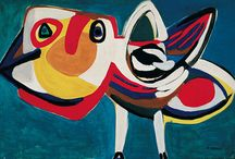 Karel Appel / Christiaan Karel Appel was a Dutch painter, sculptor, and poet. He started painting at the age of fourteen and studied at the Rijksakademie in Amsterdam in the 1940s. He was one of the founders of the avant-garde movement Cobra in 1948. Wikipedia Born: April 25, 1921, Amsterdam, Netherlands Died: May 3, 2006, Zürich, Switzerland Education: Royal Academy of Arts Songs: Musique Barbare Periods: COBRA, Modern art