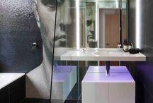 Wohlfühlbad / Bad, Badezimmer, barrierefreie Dusche, Dusche, Fliesen, Badewanne, Waschtisch, Designbad