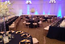 Wedding Reception / Carrollwood Country Club Tampa, FL - Wedding reception inspiration featuring centerpieces, ballroom venues, dining tables, chairs, bows, seating, color themes, flowers, plates, utensils, silverware, party favors, drapes, lighting, photography and much more!