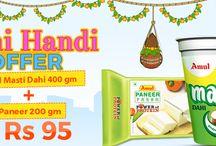 Dahi Handi Special Offer #Amulmastidahi+ #Amulpaneer@ Rs 95