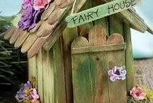 Paddlepop stick fairy house