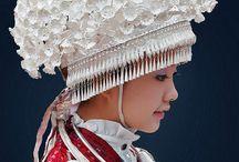 Paper dress and headdress