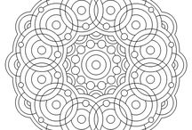 mandala/colouring stuff