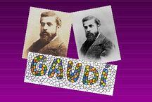 Gaudí / Treballs per fer al'escola sobre Antoni Gaudí, i imatges de les seves obres.