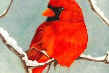Painting - Birds/Butterflies