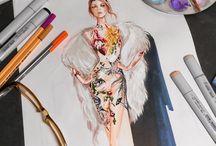 Fashion sketches / Des dessins de mode inspirants