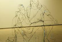 Escultura alambres e hilos