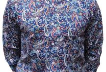 Paisley Shirts / Long Sleeve Paisley Pattern Shirts
