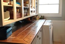 URBAN COTTAGE | Countertops / Countertop ideas that I can do when I update and remodel my 1930's 920 square foot urban cottage | diy countertops | farmhouse countertops | vintage countertops | industrial countertops | cottage countertops