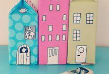 σπίτια από κουτί γάλακτος