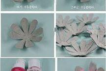 flores de carton