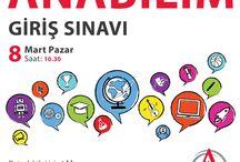 Anabilim Giriş Sınavı 6 Mart 2016 / Anabilim Eğitim Kurumları Giriş #Sınavı son başvuru 3 Mart 2016  http://www.anabilim.k12.tr/