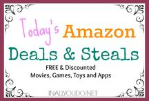Daily Deals & Steals / I try to post deals and steals on my blog daily. Here is where I will share those in one central location. Most of these deals are TIME SENSITIVE and prices can change frequently and without warning. So check back daily for more great deals and steals!!! ENJOY and HAPPY SHOPPING!!!