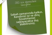 SBS için Öğrencilere Tavsiyeler
