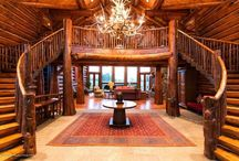 Log Home Ideas / Different styles I like for a log home / by Kelli Lawrence