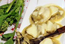 ravioli di patate e rape con vellutata di parmigiano