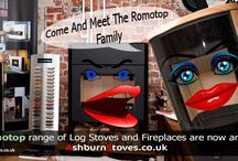 ROMOTOP Log Stoves & Fireplaces