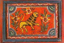 Львы, русская бытовая живопись