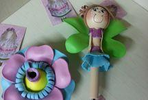 GOMMA CREPLA / Una penna biro, una matita lavorata con la Gomma Crepla, Fommy o Moosgummi diventa un simpatico pupazzetto!!!