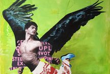My Art : Icare / icarus / mythic figure Icarus series in my paintings...