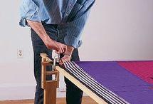 Wood craft quilt frame