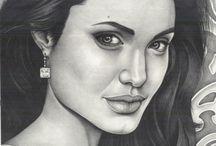 Angelina Jolie Pencil Drawing / Pencil Drawing Angelina Jolie by Gabriel Serna