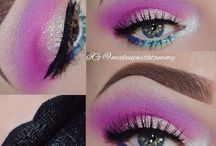 Eye makeup / Shades of colors