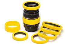 Lens Rims / We produce lens rims for all sorts of lenses (diameter specific). Try our black, red or yellow colored lens rims and match with your cover!