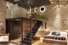 bed room and living room