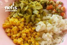 Soğuk mezeler  Salatalar