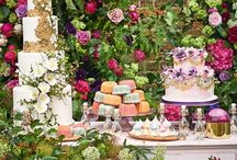 "Enchanted Garden / Be inspired for your wedding reception because there is no such thing as ""too many flowers""."