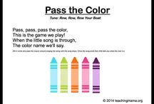pass the colour circle time game