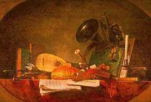 Painted instruments / Instrumentos na Pintura