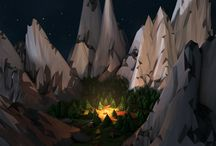 Low Poly 3D / Nature / Forest / Camping / by LA Designs